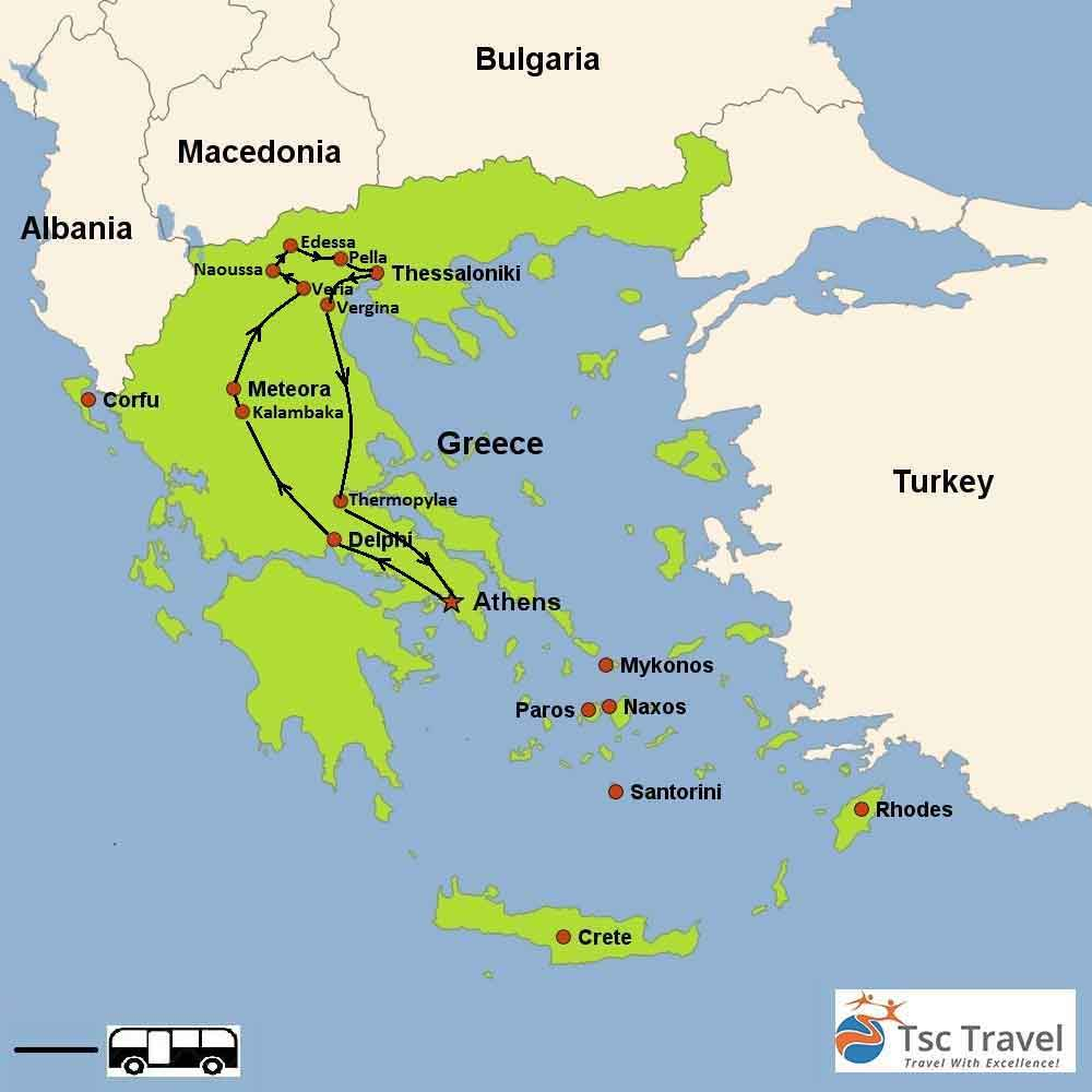 Pella Greece Map.5 Days Northern Greece Tour Greece Tour Specialist