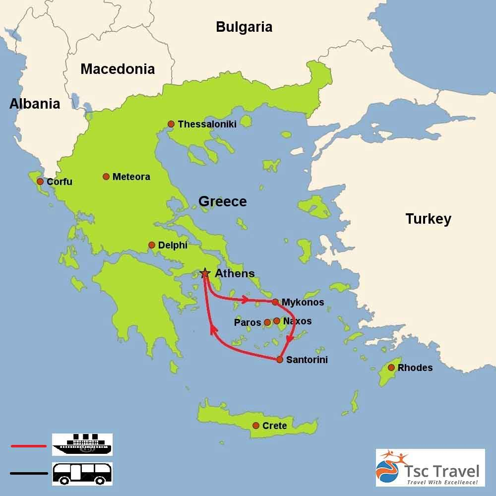 Tours Of Greece Including Greek Islands