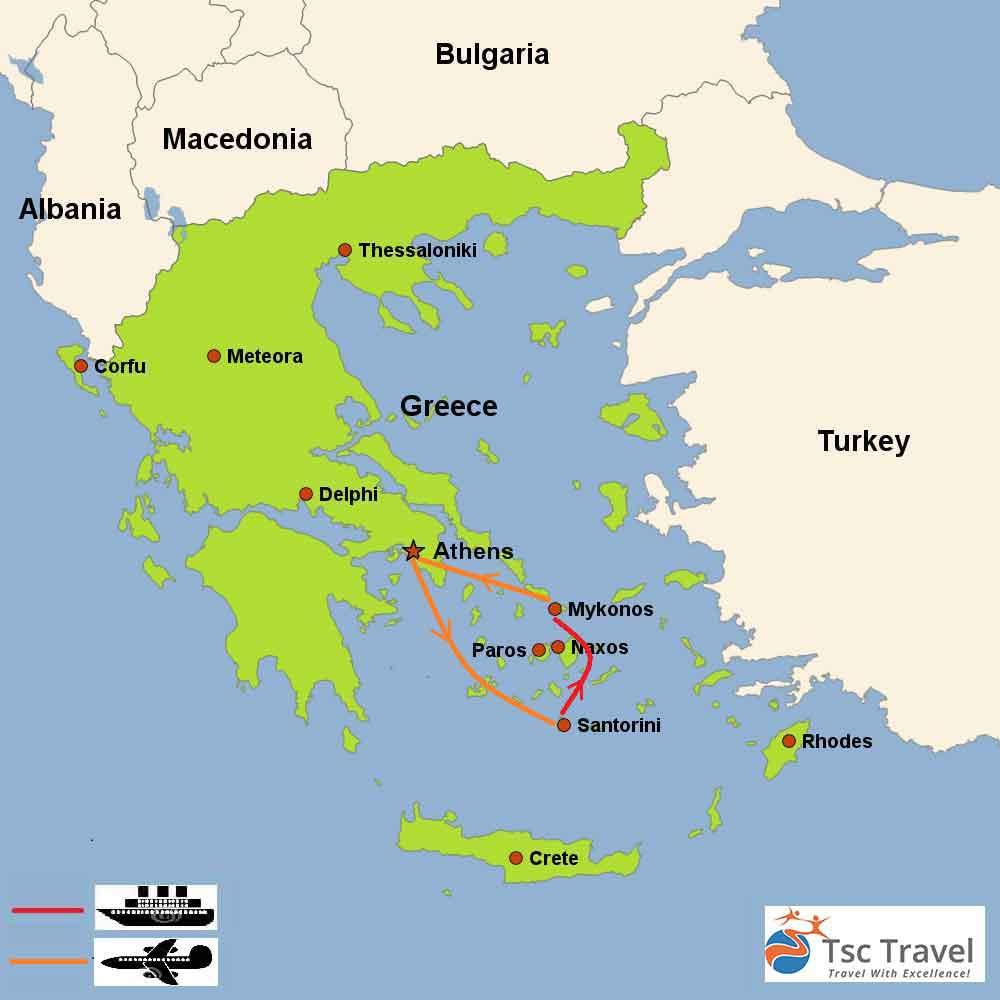 Romantic Getaway Tour Map